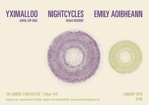 YXIMALLOO, NIGHTCYCLES, EMILY AOIBHEANN